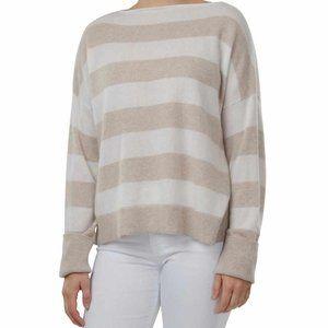 Cortland Park Cashmere Newport Sweater Striped Tan